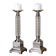 Uttermost Ardex Mercury Glass Candleholders S/2