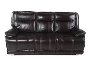 Boulevard Coffee Leather Reclining Sofa