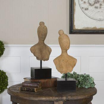 Uttermost Arlie Wooden Sculptures S/2
