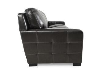 Simon Li Las Vegas Pewter Leather Sofa