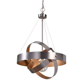 Uttermost Anello 1 Light Brushed Nickel Pendant