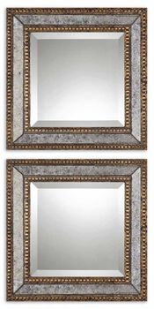 Uttermost Norlina Squares Antique Mirror Set/2