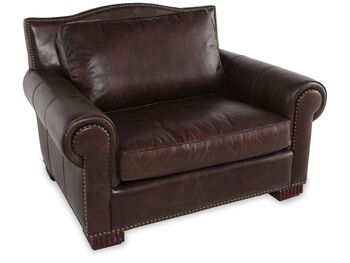 Henredon Leather Chair and a Half