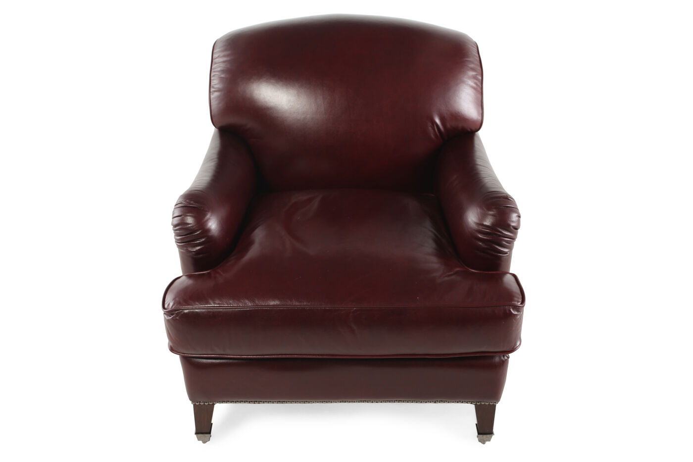 Henredon Angelica Leather Chair Mathis Brothers Furniture