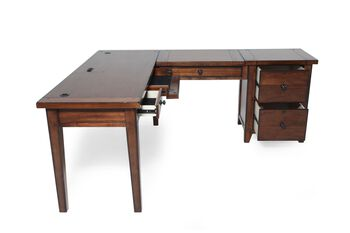 Aspen Cross Country Modular L-Desk with File
