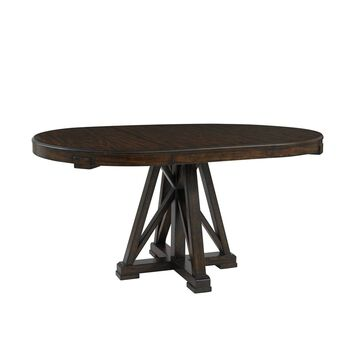 Stanley Newel Date Round Pedestal Table
