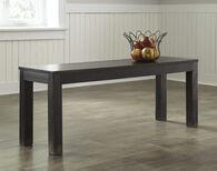 Ashley Gavelston Black Large Dining Room Bench