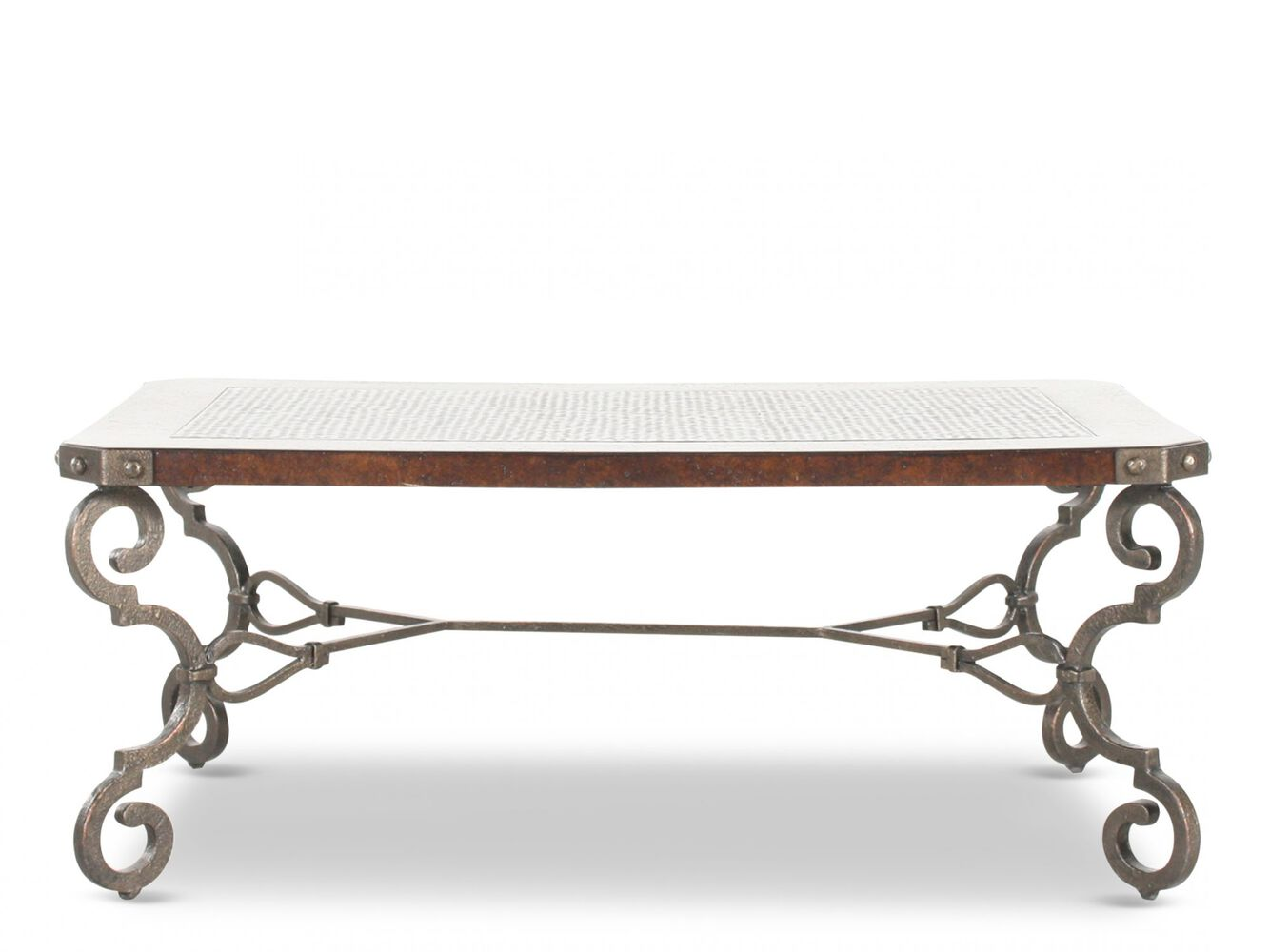 Bernhardt interiors la paz rectangular cocktail table mathis brothers furniture Bernhardt coffee tables