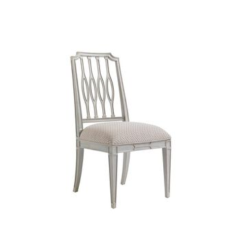 Stanley Charleston Regency Gray Linen Cooper Dining Side Chair