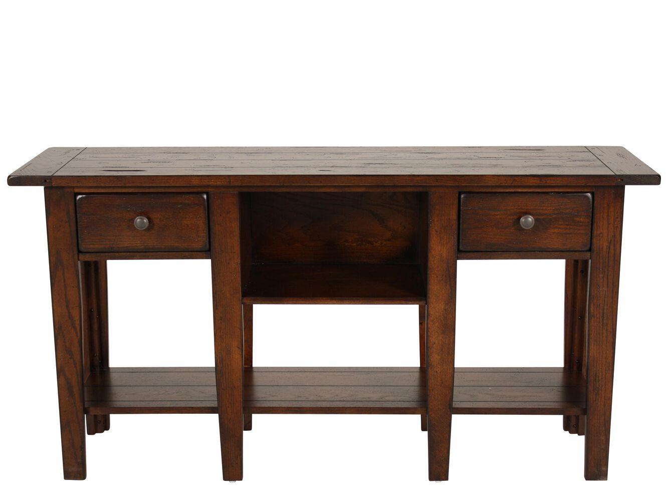 Broyhill Attic Heirlooms Rustic Sofa Table Mathis