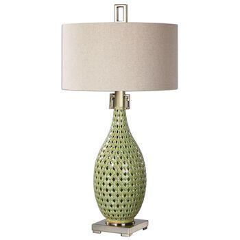 Uttermost Chamoru Green Glaze Lamp