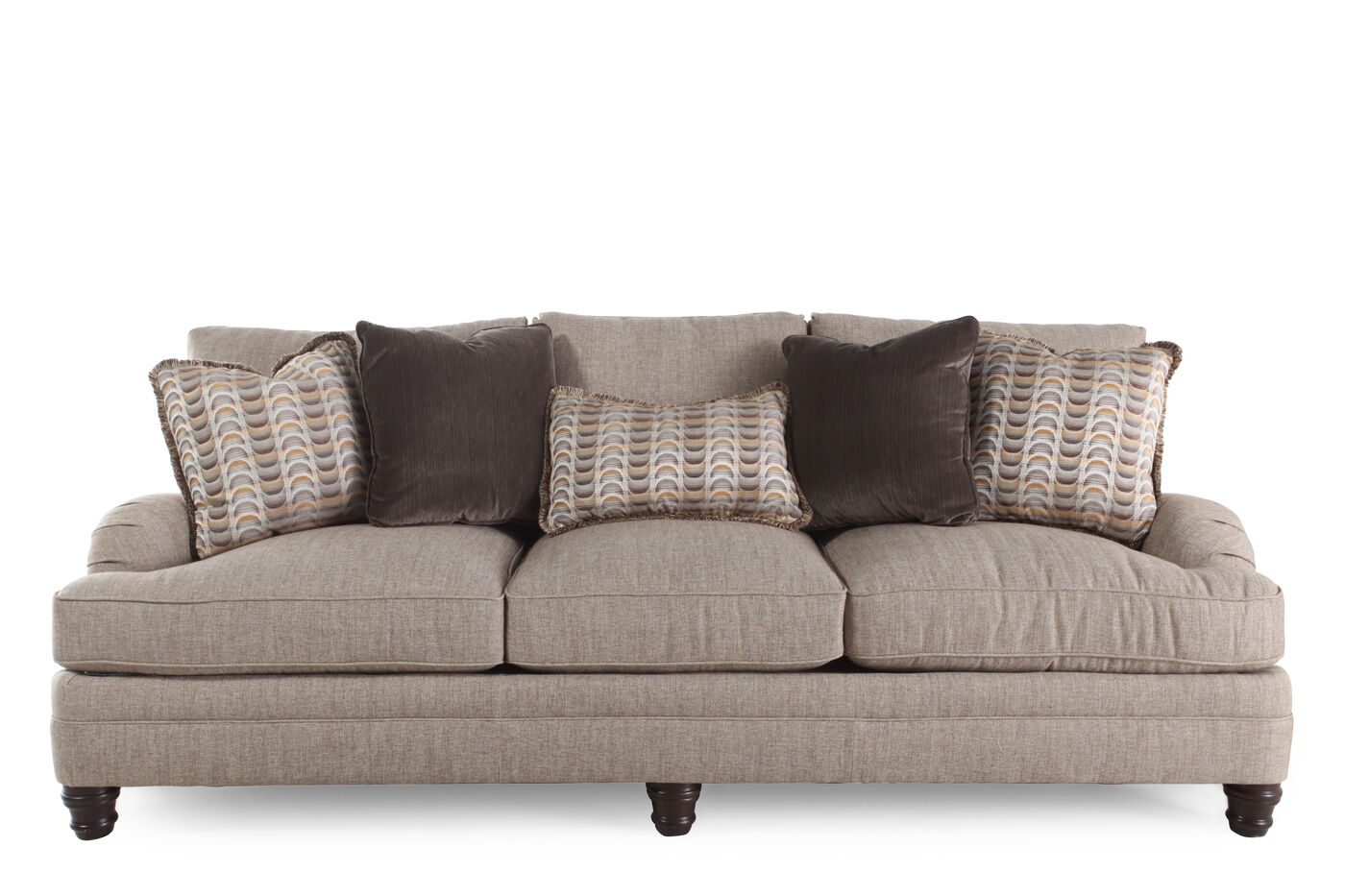 Bernhardt tarleton biege sofa mathis brothers furniture for Bernhardt furniture