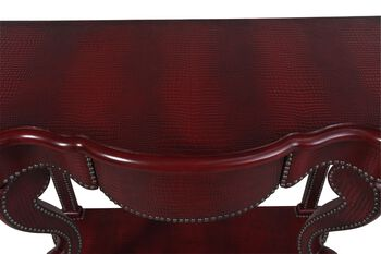 Hooker Red Croc Console