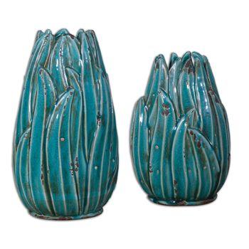 Uttermost Darniel Ceramic Vases, S/2