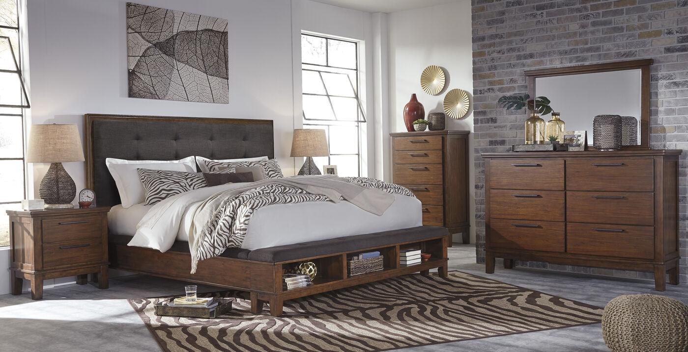 ashley ralene brown bedroom set mathis brothers furniture