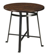 Ashley Challiman Rustic Brown Round Dining Room Bar Table