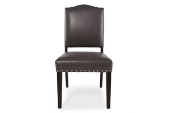 Boulevard Gray Leather Dining Chair
