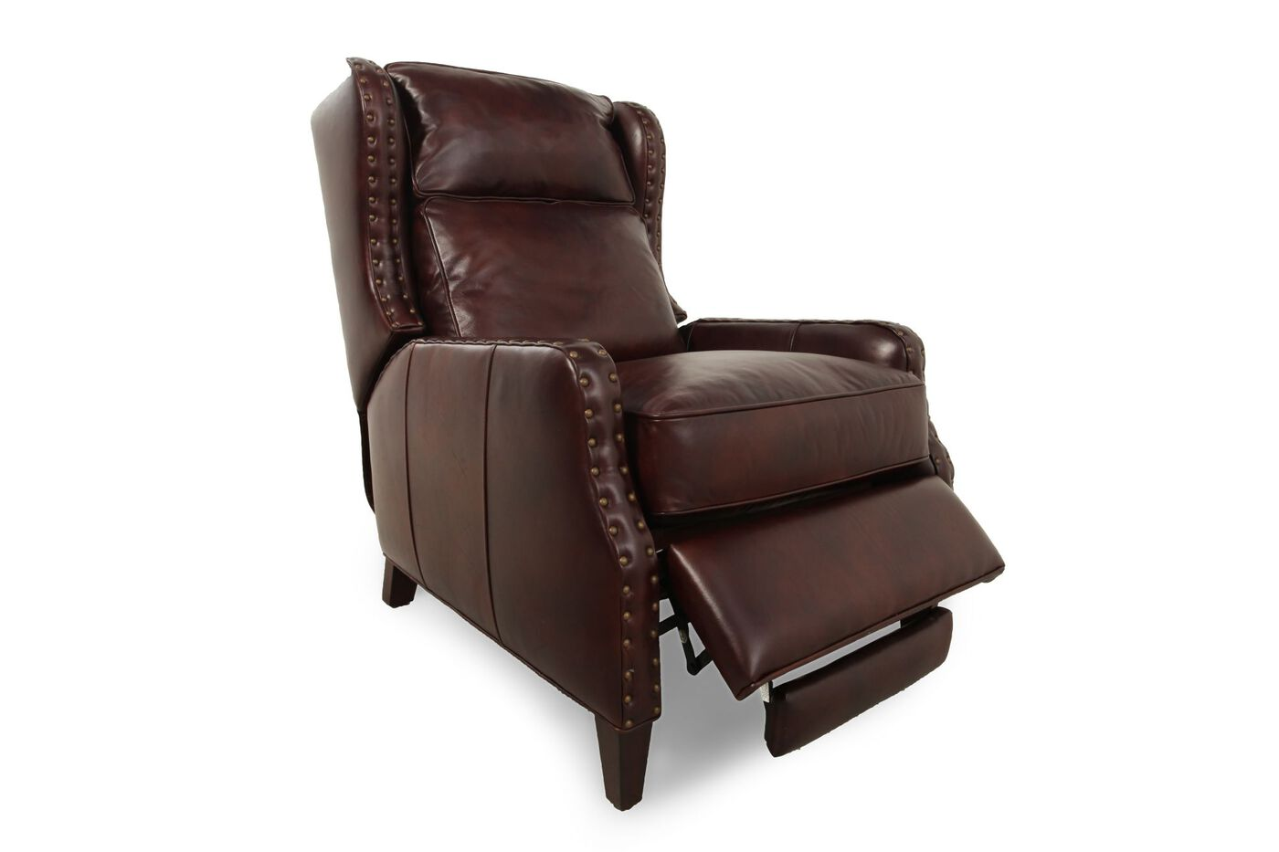 Henredon Leather Recliner Mathis Brothers Furniture