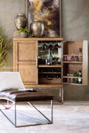 Samuel Lawrence Highland Park Gray Bar Cabinet