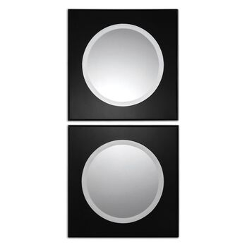 Uttermost Girard Black Square Mirrors S/2