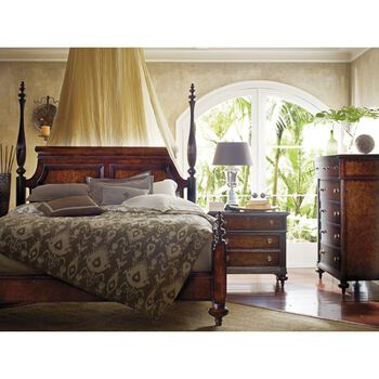 Stanley British Colonial Caribe Queen Poster Bed