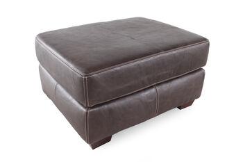 USA Leather Sable Ottoman