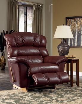 La-Z-Boy Crandell Bordeaux Leather Recliner