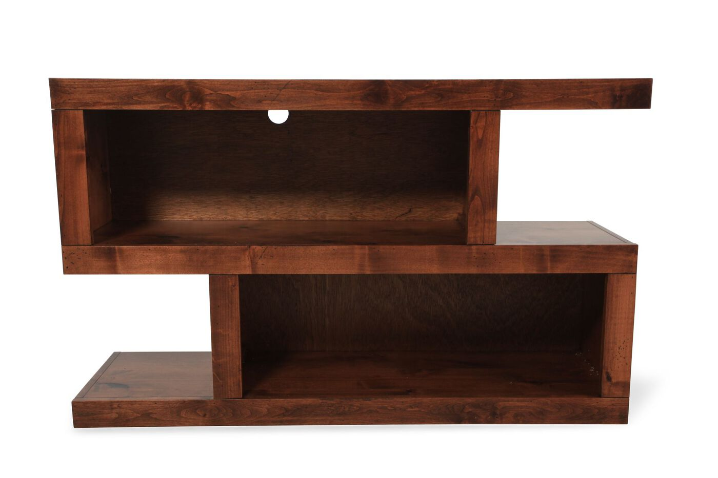 Aspen contemporary console table mathis brothers furniture for Sofa table vs console table