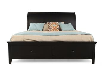Winners Only Vintage Ebony Sleigh Storage Bed