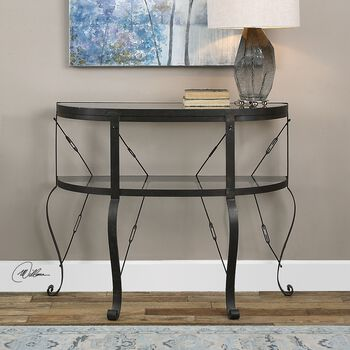 Uttermost Ivyn Rust Bronze Console Table