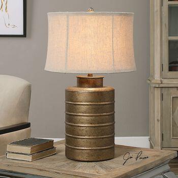 Uttermost Antiqued Gold Bamiro Lamp