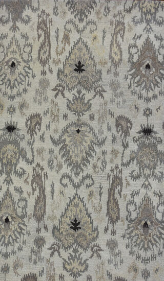 LBJ Hand Tufted Wool Natural Floral Rug
