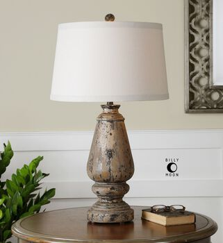Uttermost Doria Aged Wood Table Lamp