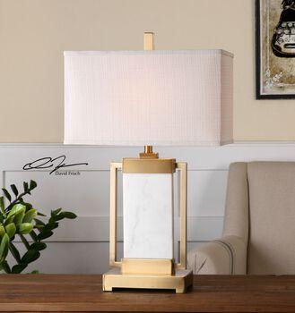 Uttermost Marnett White Marble Table Lamp