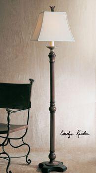 Uttermost Nathan Mahogany Floor Lamp