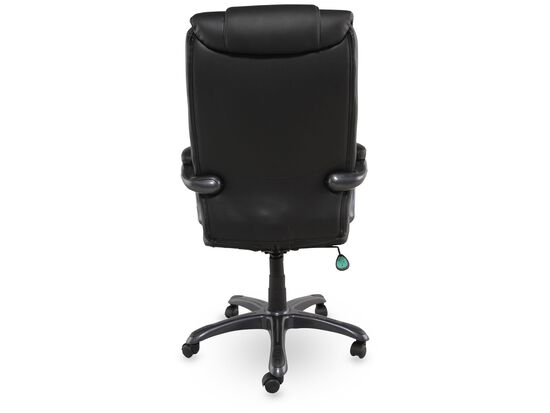 Sauder Deluxe Black Leather Executive Chair