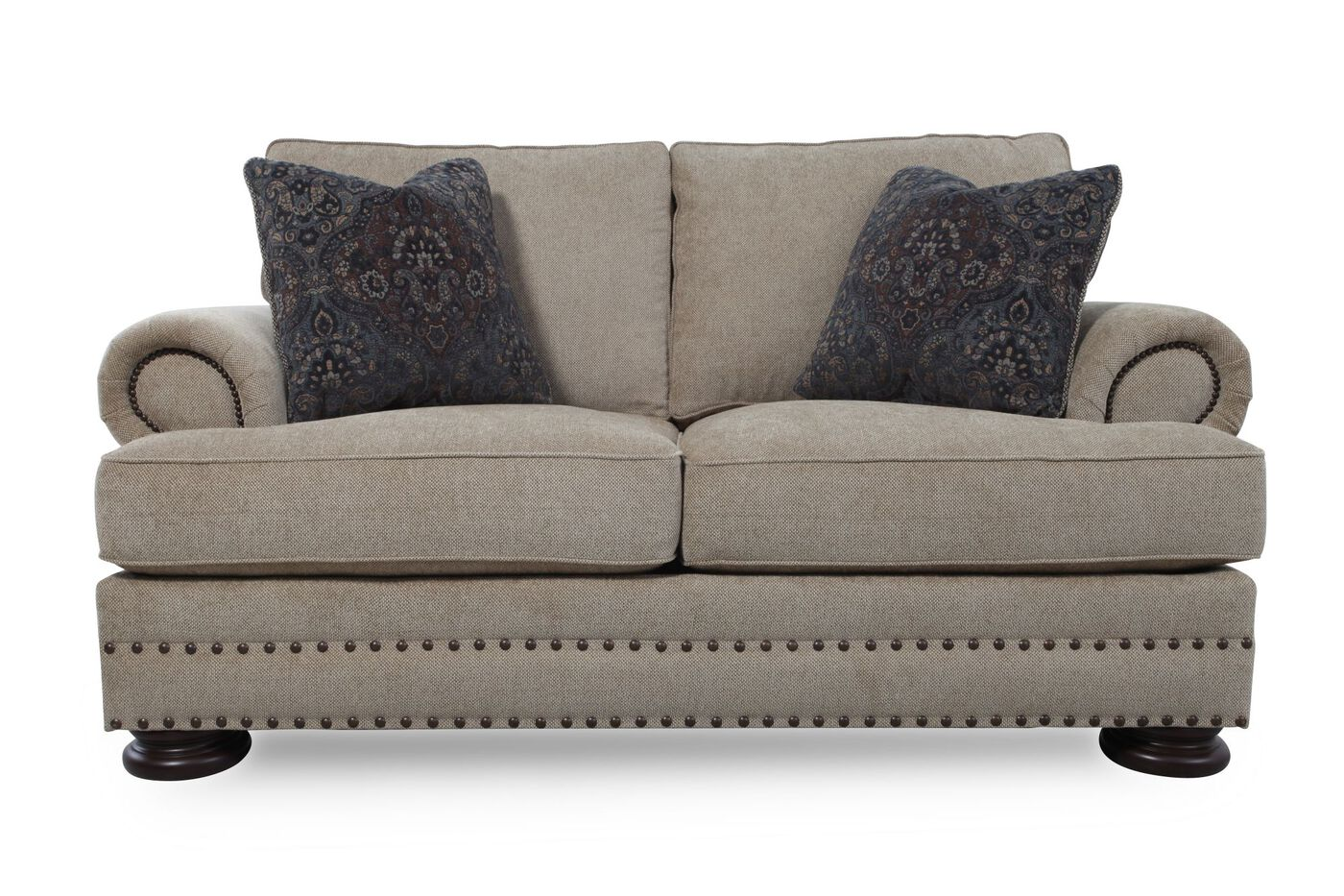 Bernhardt Brown Foster Loveseat Mathis Brothers Furniture