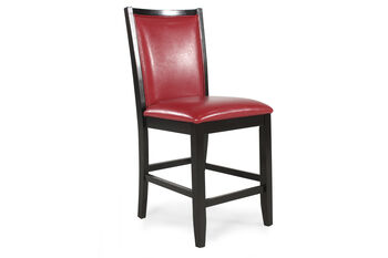 Ashley Trishelle Pair of Red Bar Stools