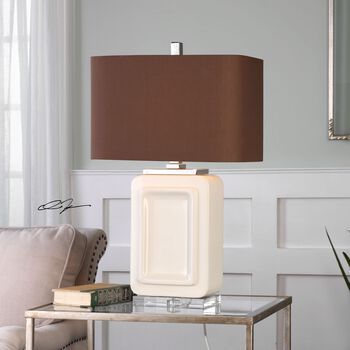 Uttermost Dantzler Gloss White Lamp