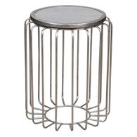 Uttermost Valerio Antiqued Silver Accent Table