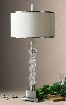Uttermost Campania Glass Table Lamp