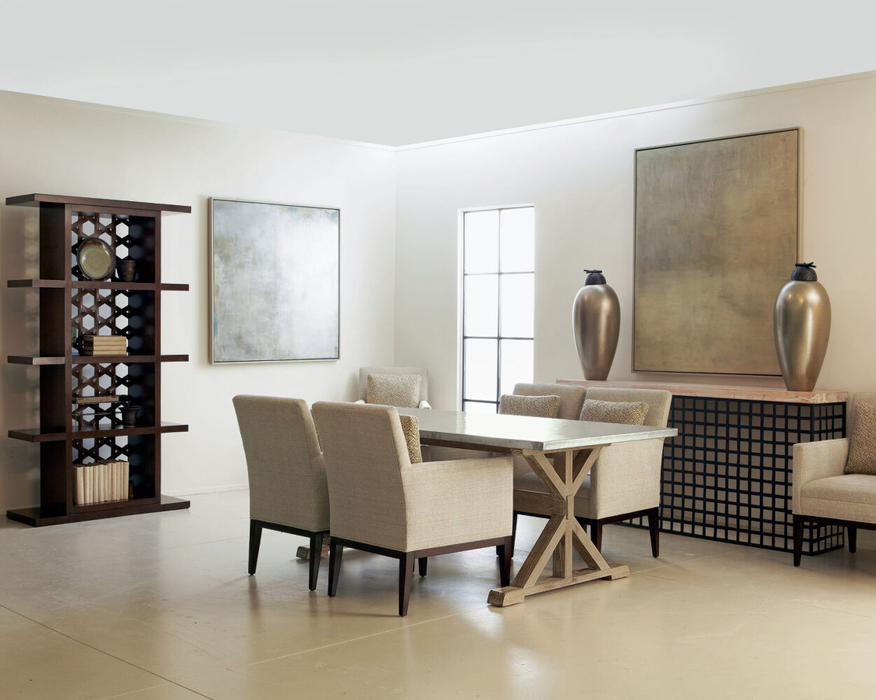 Bernhardt Interiors Quentin Dining Table | Mathis Brothers Furniture