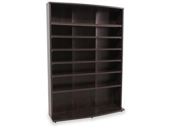 sauder cherry multimedia storage tower mathis brothers furniture. Black Bedroom Furniture Sets. Home Design Ideas