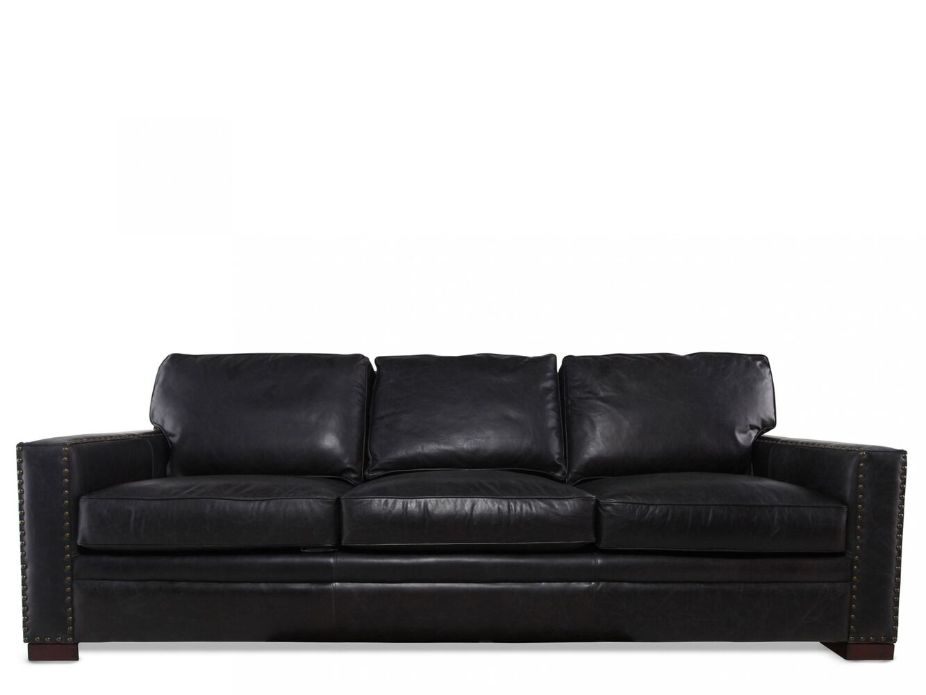 Henredon Leather Sofa Mathis Brothers