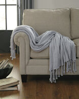 Ashley Clarence Light Gray Throw