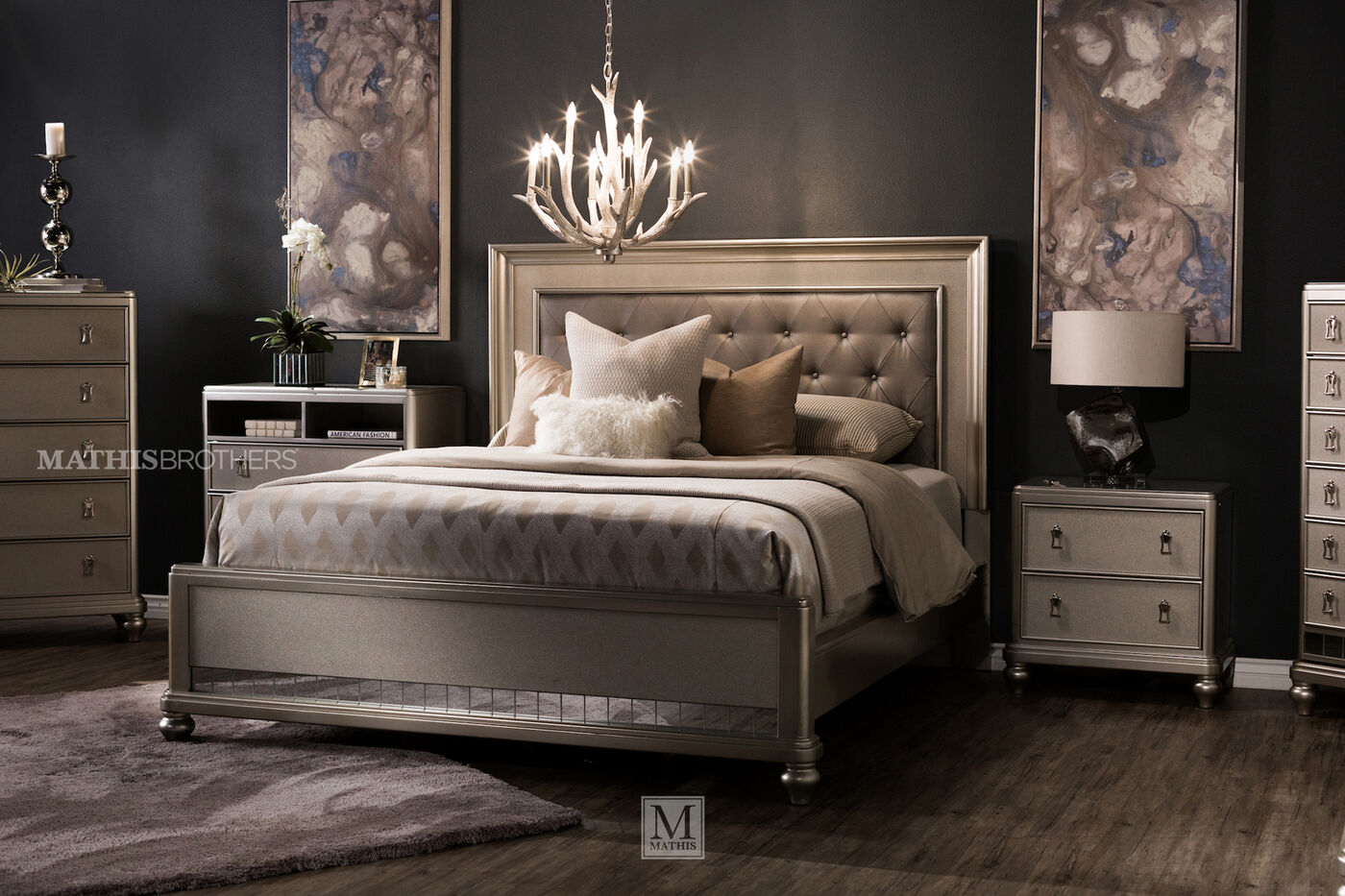 Samuel Lawrence Diva Panel Bed Mathis Brothers Furniture