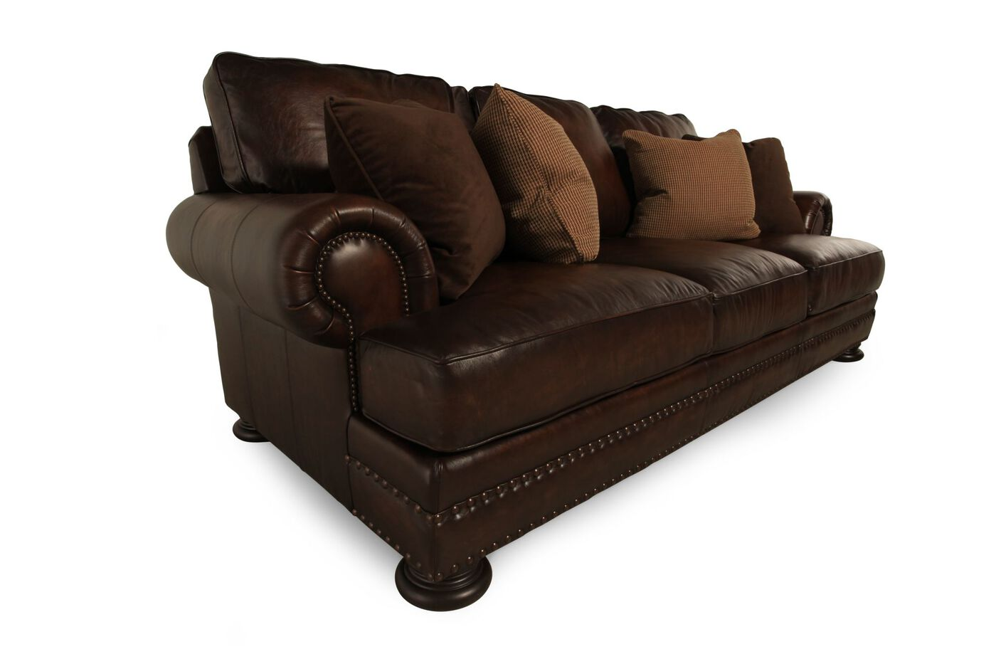 Bernhardt Foster Leather Sofa Mathis Brothers Furniture
