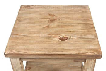 Ashley Distressed Pine End Table