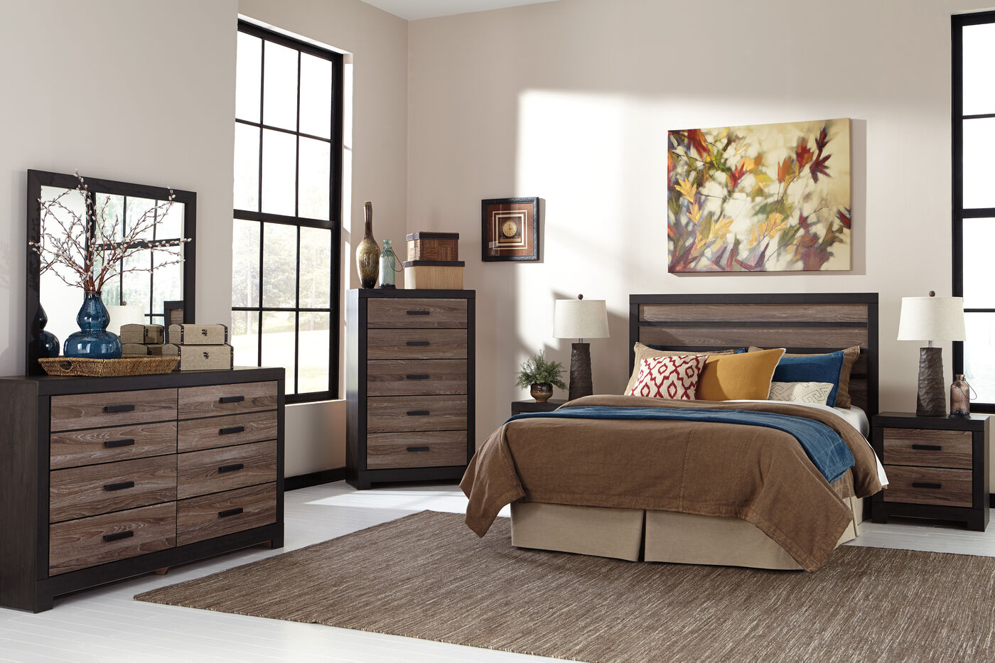 Ashley harlinton suite mathis brothers furniture for Ashley furniture bedroom suites