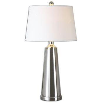 Uttermost Caposele Charcoal Glass Lamp